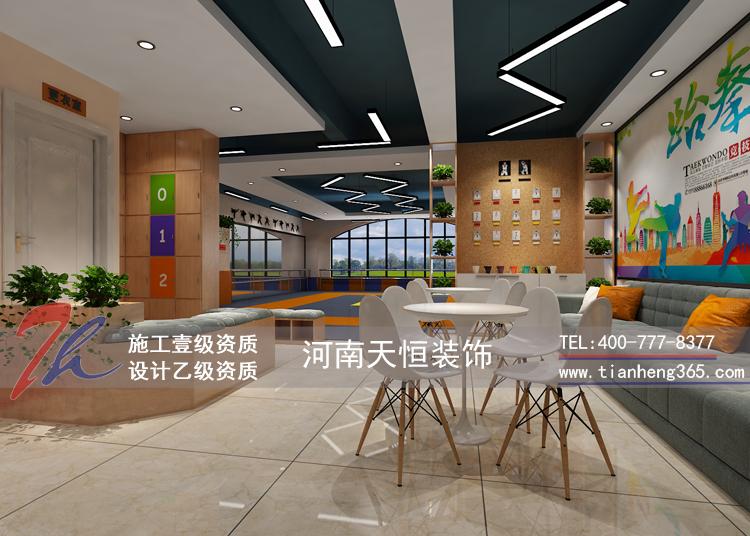 长龙跆拳道馆-设计案例-河南幼儿园装修设计有限公司